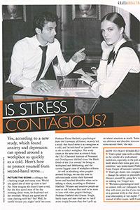 Grazia   'Is stress contagious?'