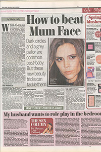 Daily Mail   'How to beat Mum Face'