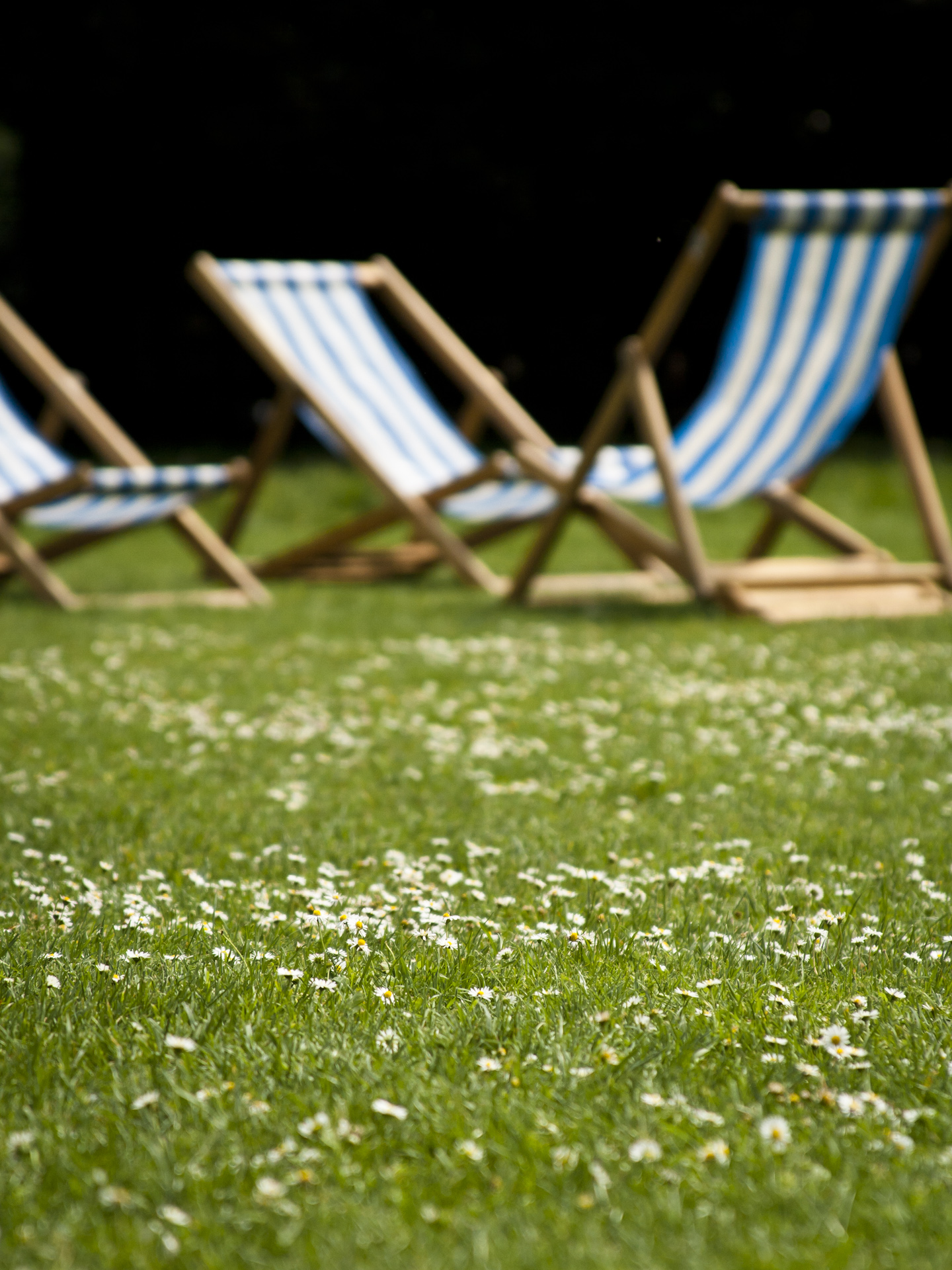 Deck chairs in a London park