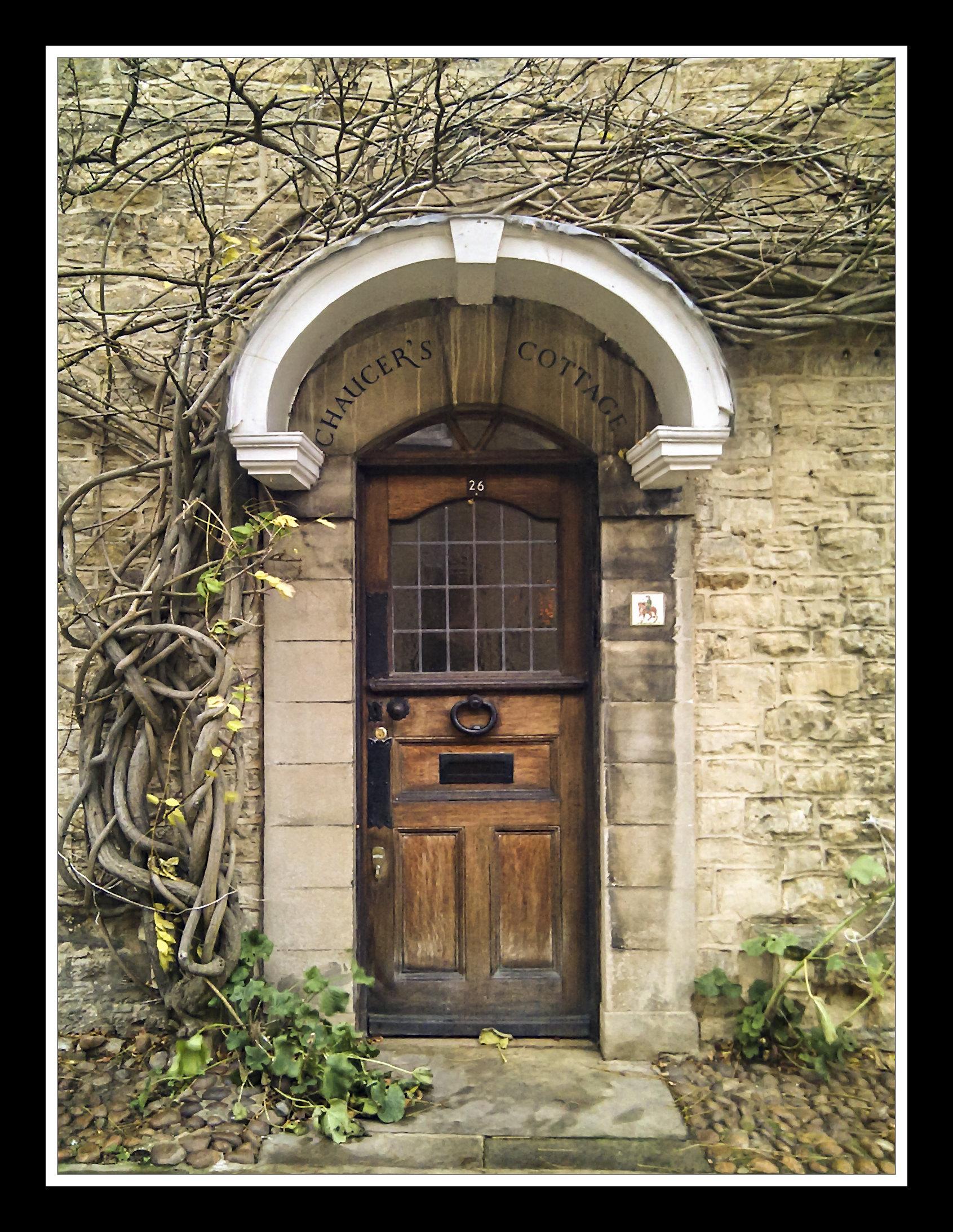 A doorway in Woodstock, Oxfordshire.