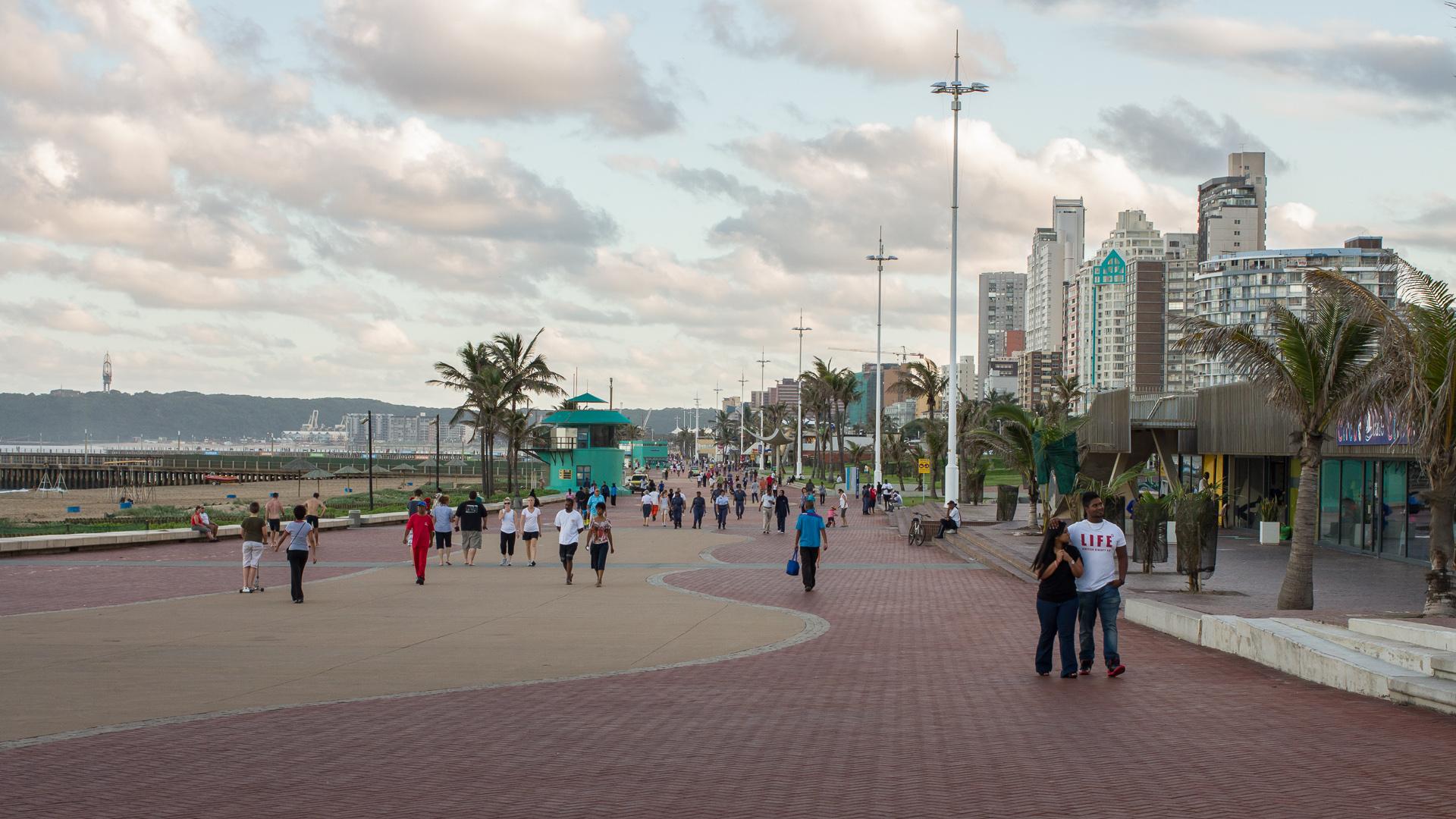 Durban beachfront, 2013