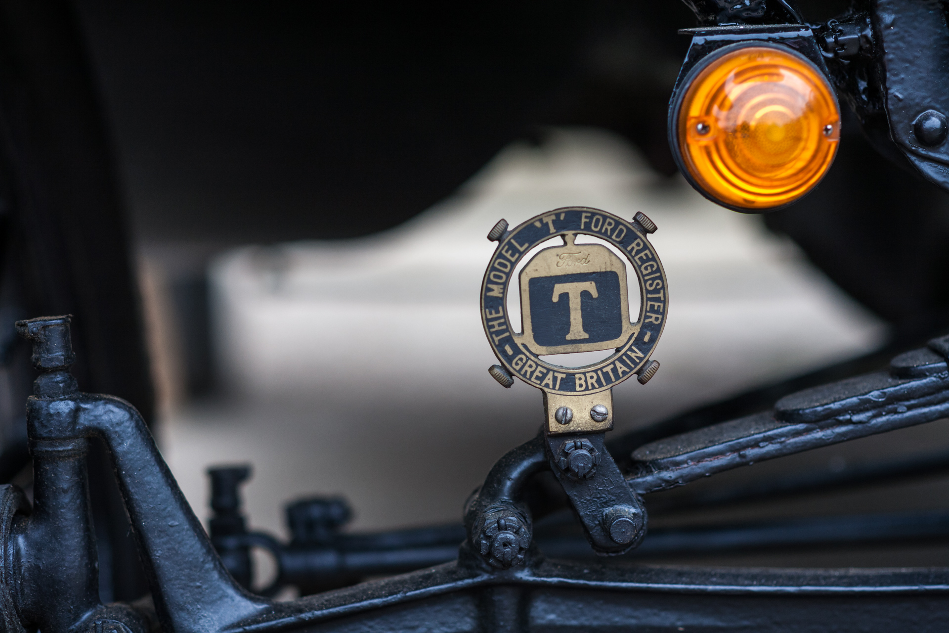 Closeup detail of a Model T Ford