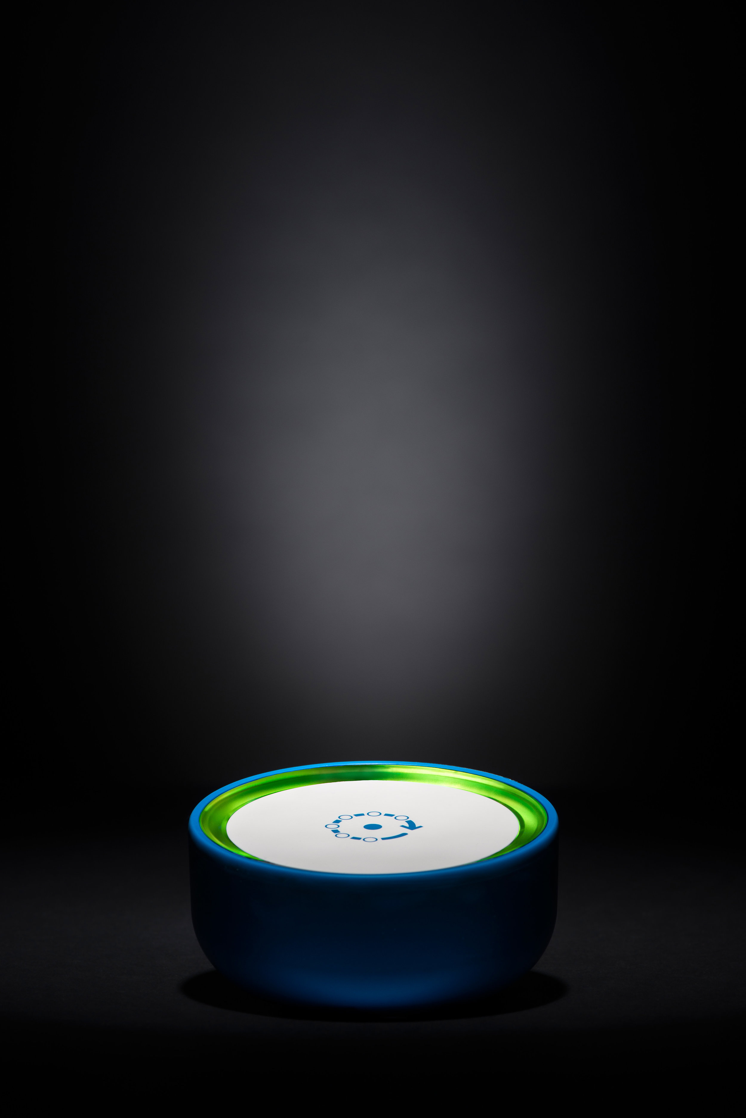 Still life photography of a product for Fing Box. Glowing lights in the darkness