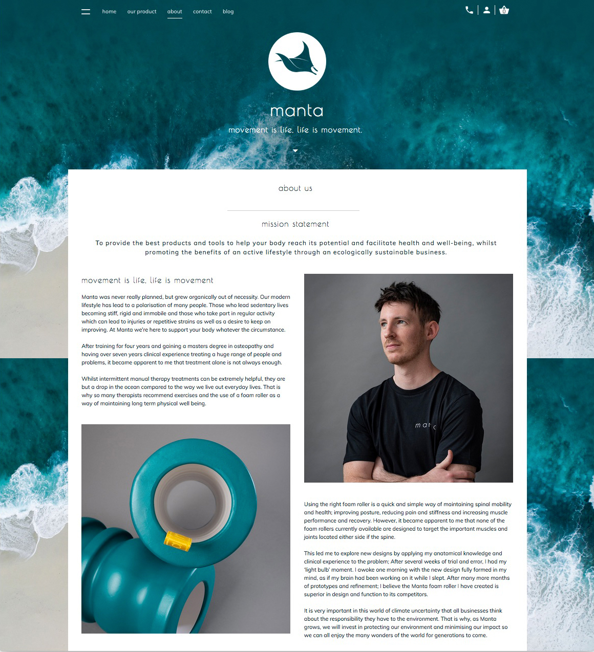 Product and portrait photography for a health and fitness start up company