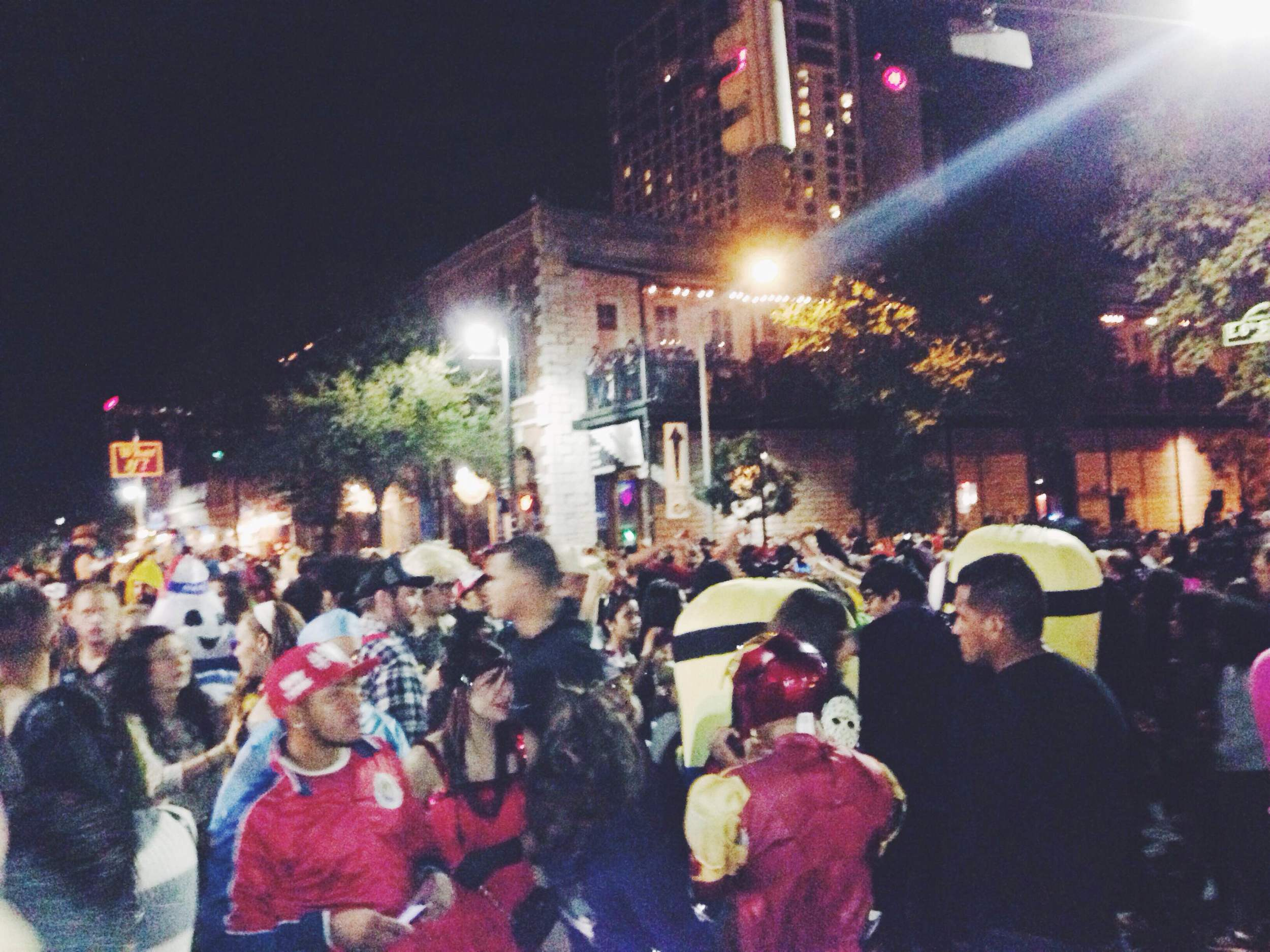 6th street. Halloween. Craziness.