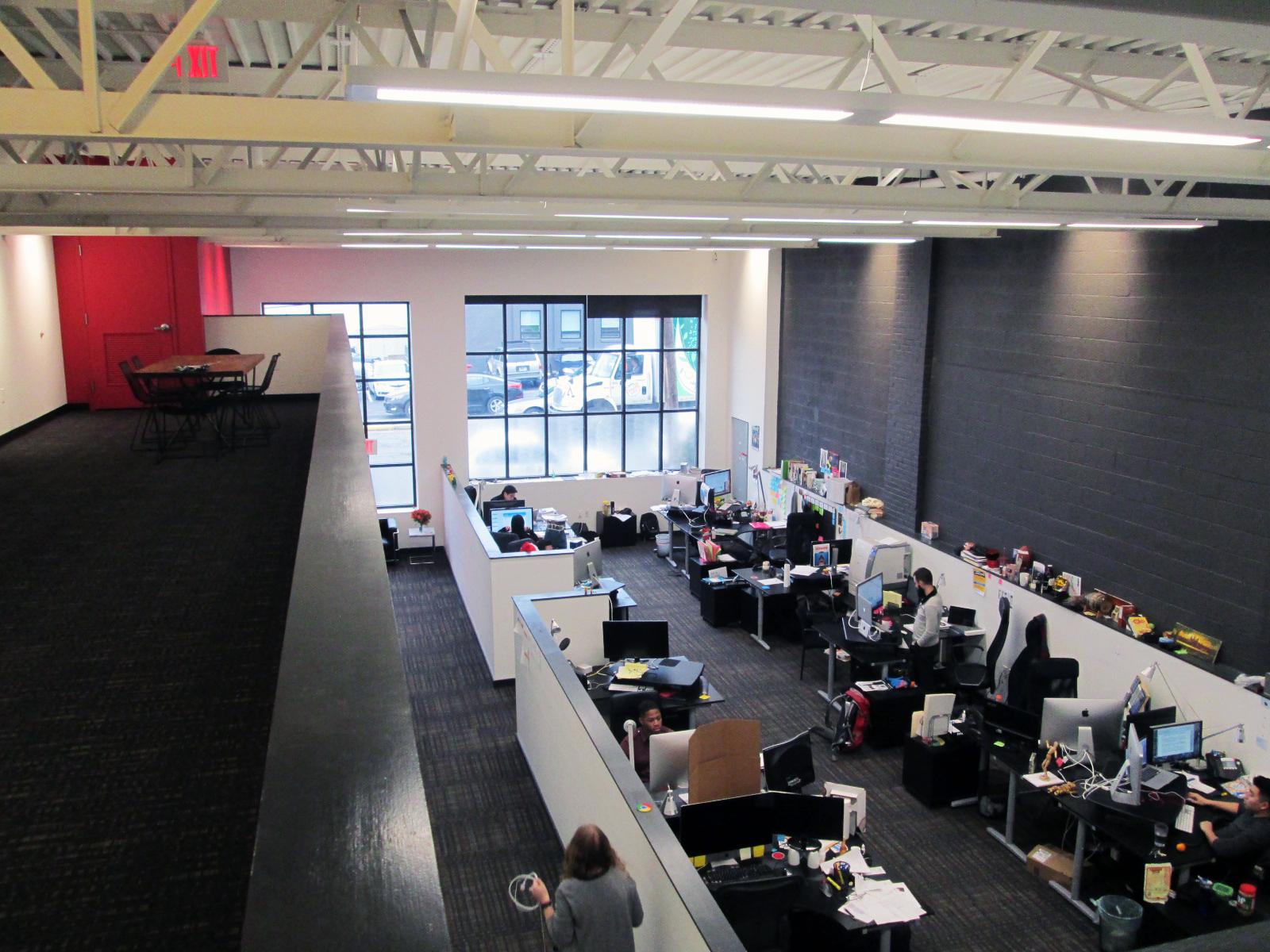 View of workspace from mezzanine