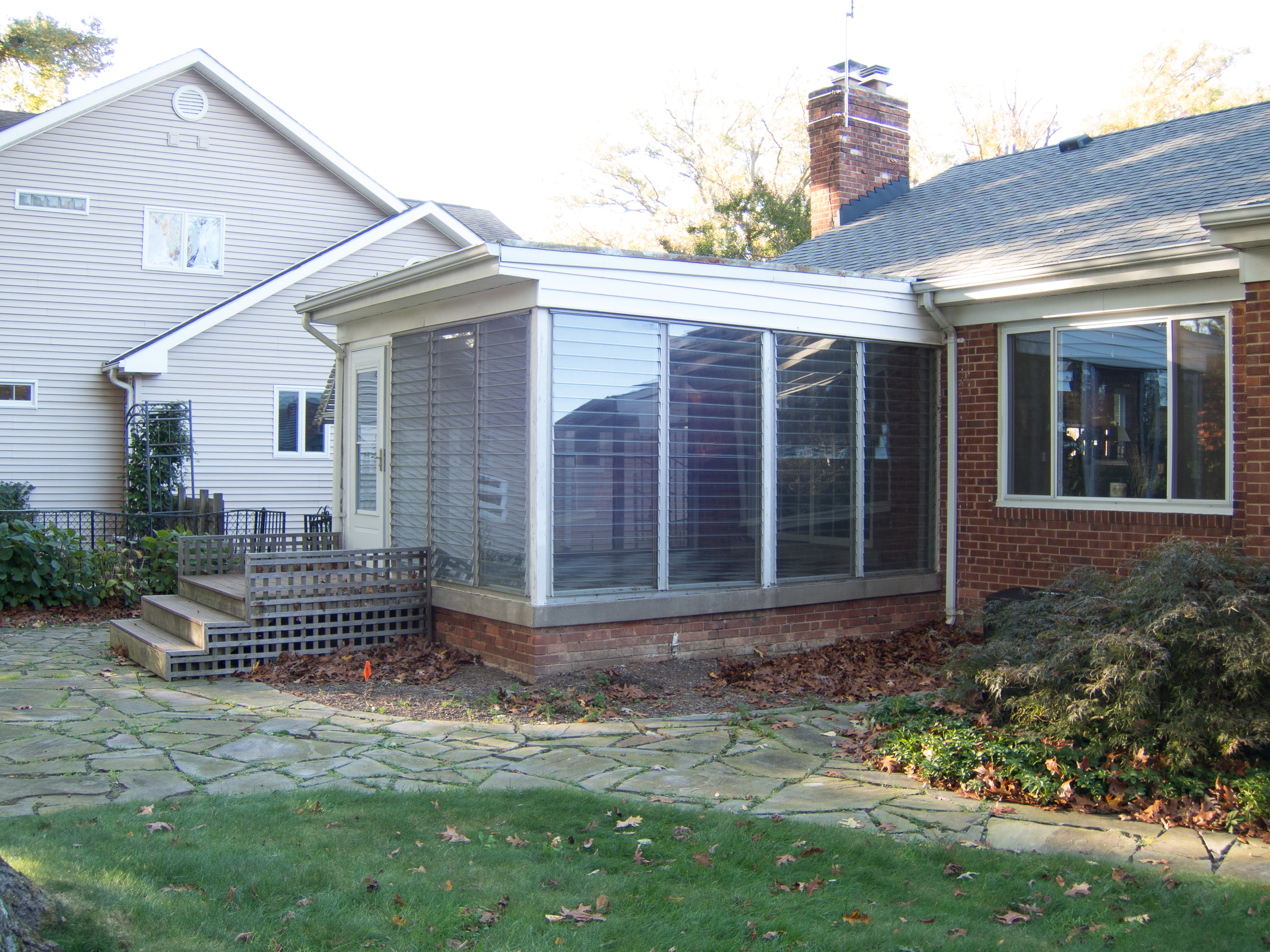 Existing house and original rear porch