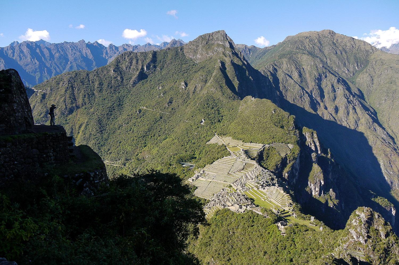 Machu Picchu from the top of Wayna Picchu, Peru