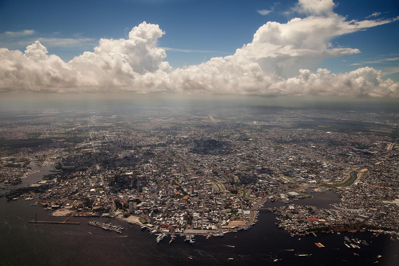 The capital city of Manaus, Amazonas, Brasil