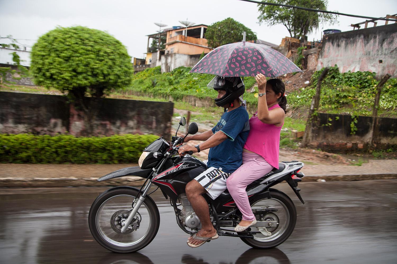 Rain in Tabatinga, Amazonas, Brasil