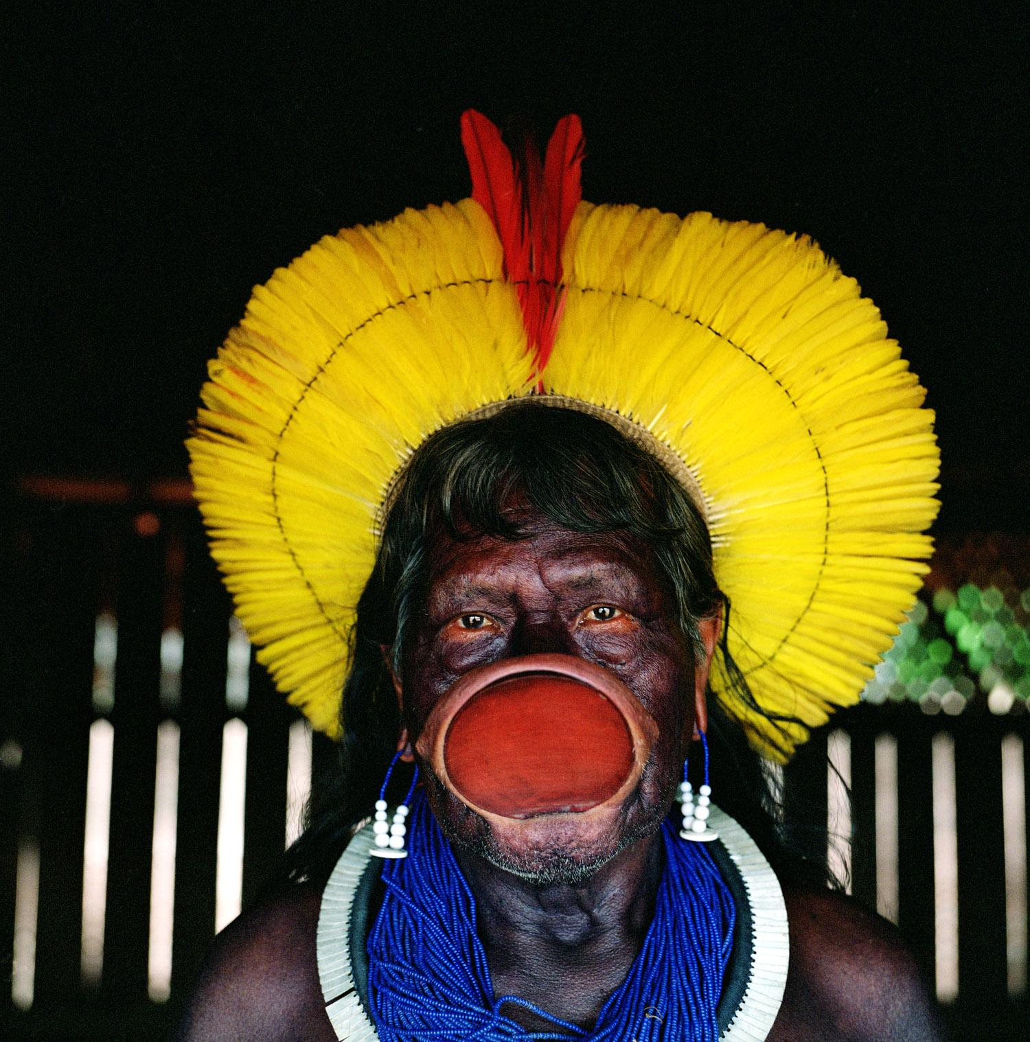 Chief Raoni Metuktire, Kayapó Tribe, Xingu National Park