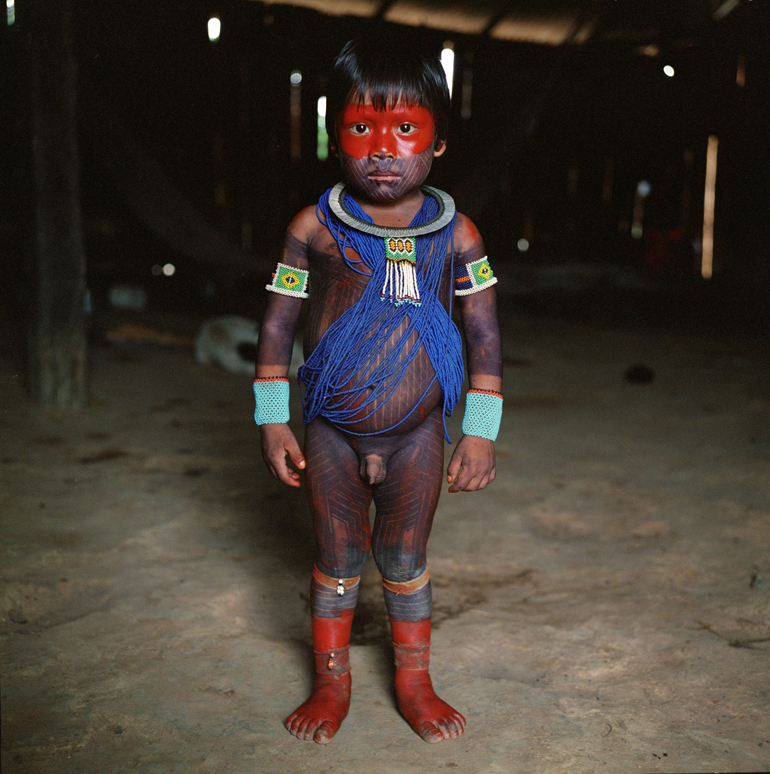 Metuktire child, Kayapó Tribe, Xingu National Park