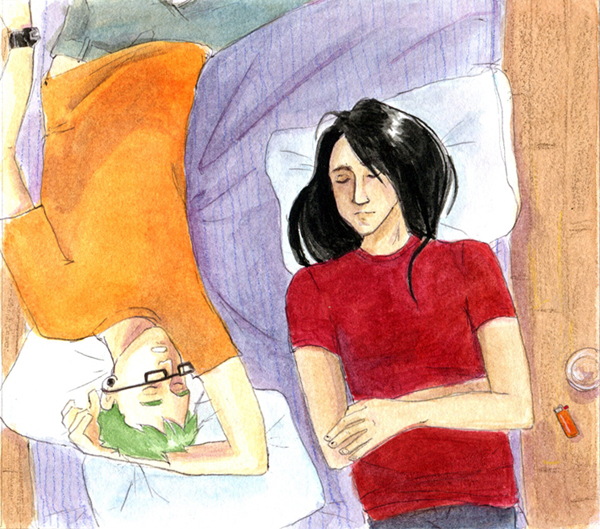 """Crash"" original illustration. 2012."