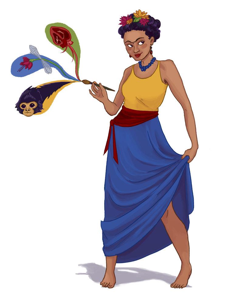 """Comic Book Frida"" Illustration"