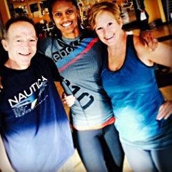 Tim and Paula motivate me every time they join me for BodyPump or CRB FIT!