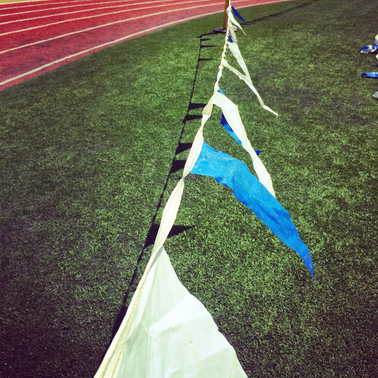 The Flags are UP and ready for 6th grade Track Meet!