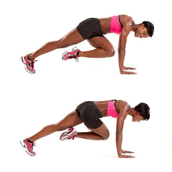 Mountain Climbers 3 sets of 20 will get  the heart pumping!