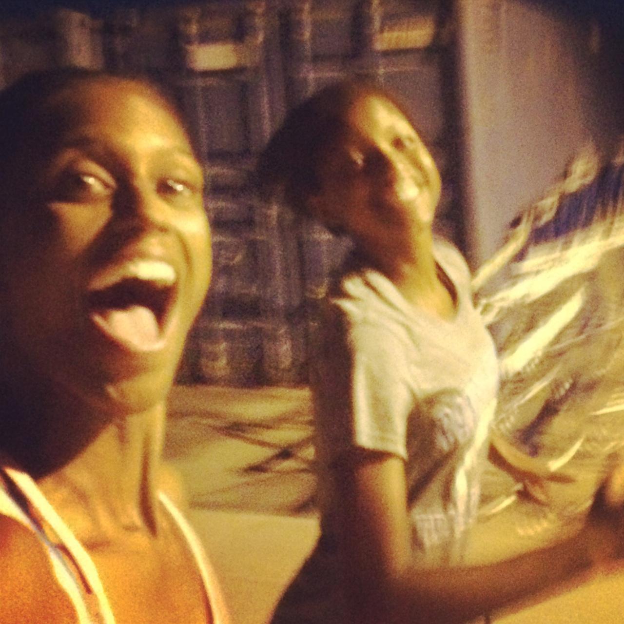 Night running w/my XC girl! Different, Fun!
