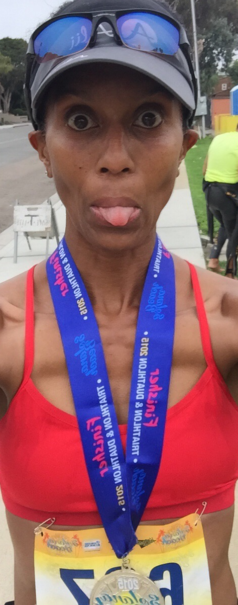 Very #happymama after the race!