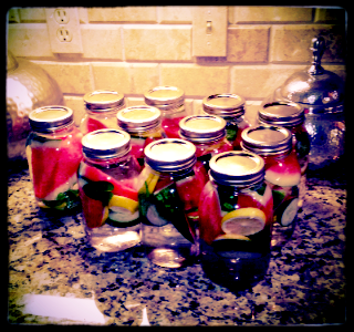 Jars prepared by my Mom