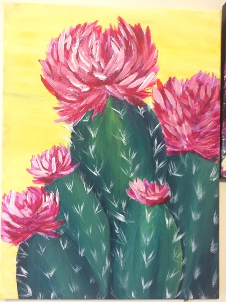Magenta Cactus Blooms