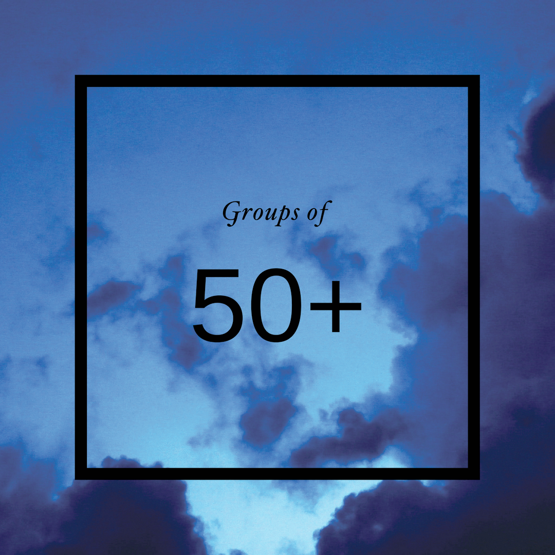 groups of 50 or more  Groups of fifty or more can explore BECOMING: Identity or BEOMING: Story for $25.00 per study.     Contact us