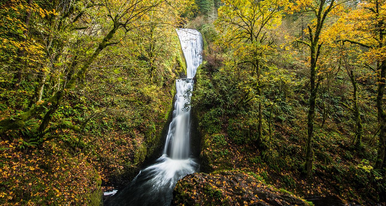 Bridal Veil Falls, Columbia River Gorge - Oregon. (40mins South of where Apple Maps thinks we were).