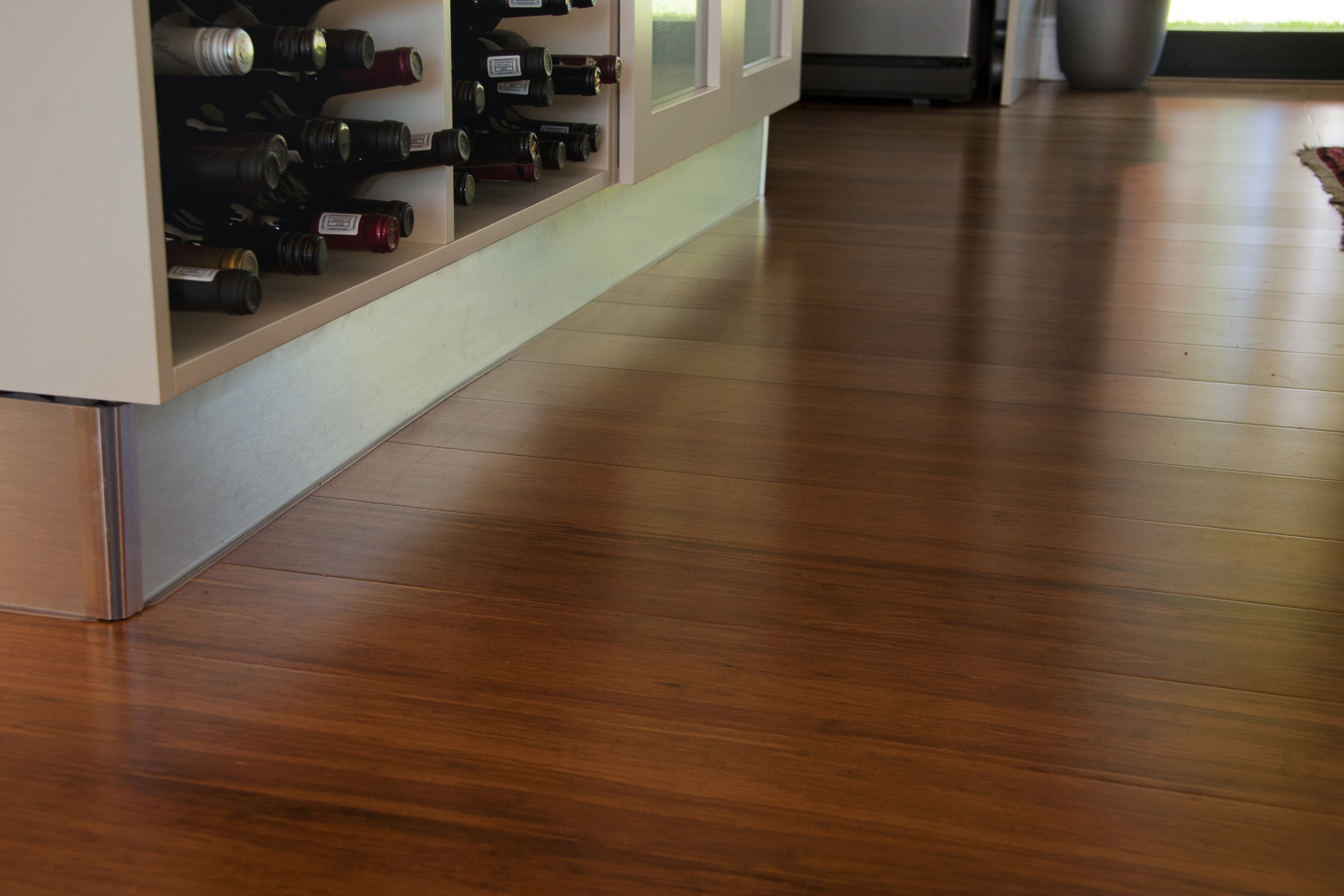 Brightfields - Strand Woven Bamboo flooring is available as a floating installation with a self-locking system which requires no nailing, gluing or stapling.