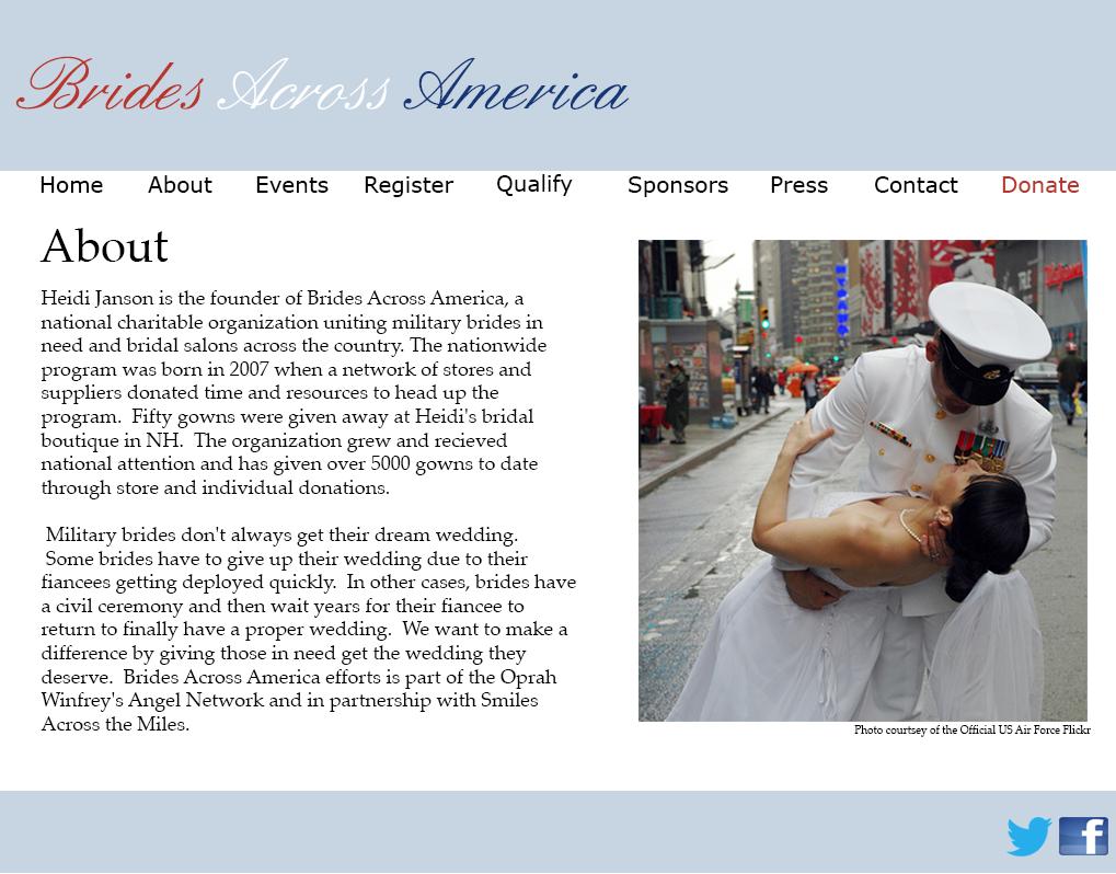 Brides Across America Web Design