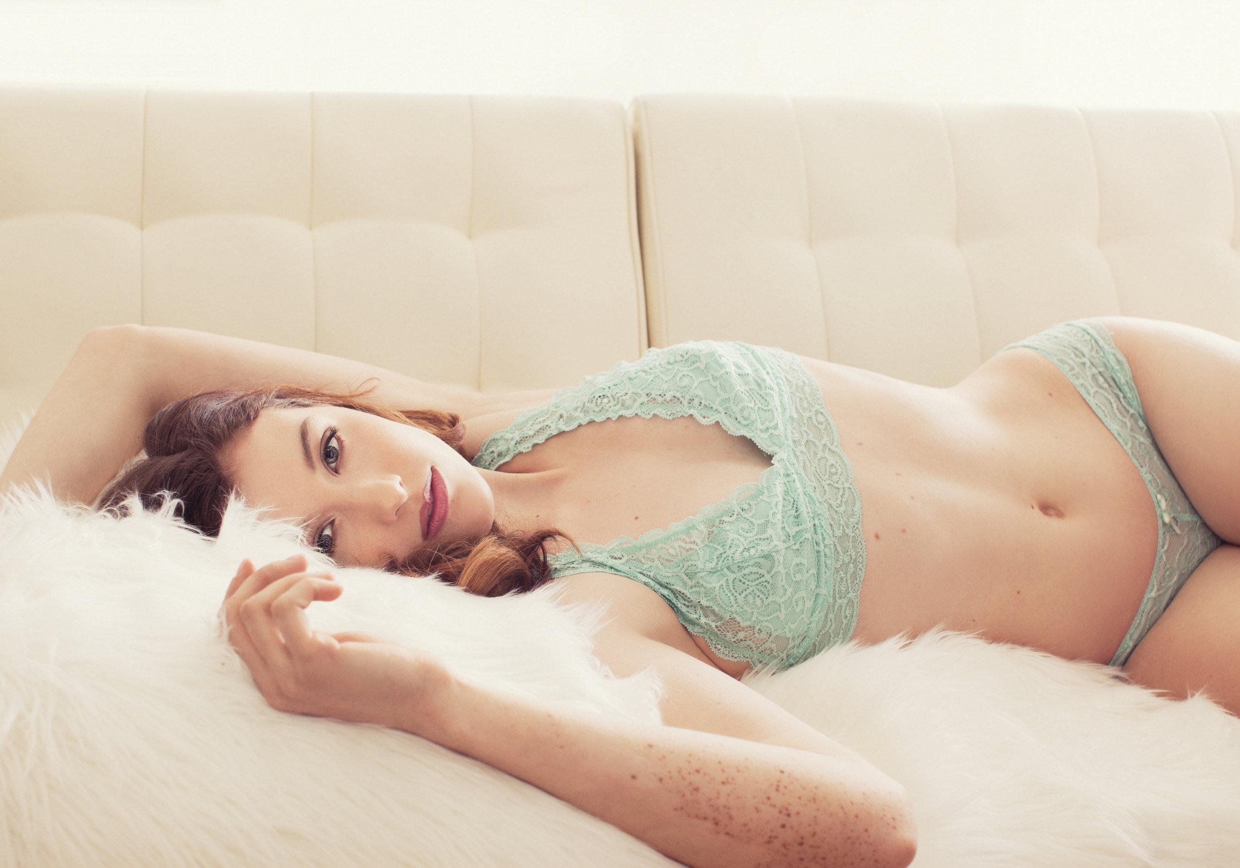 Fur and lingerie boudoir