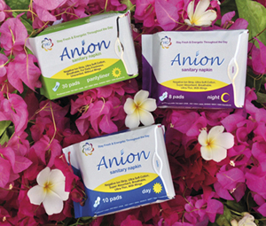 HG Anion Sanitary Napkins