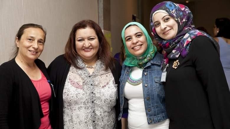 Maya Alghaith on the left