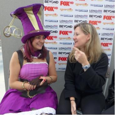 Aisha Anime interviewing Veronica Taylor, original voice of Ash Ketchum, Pokemon