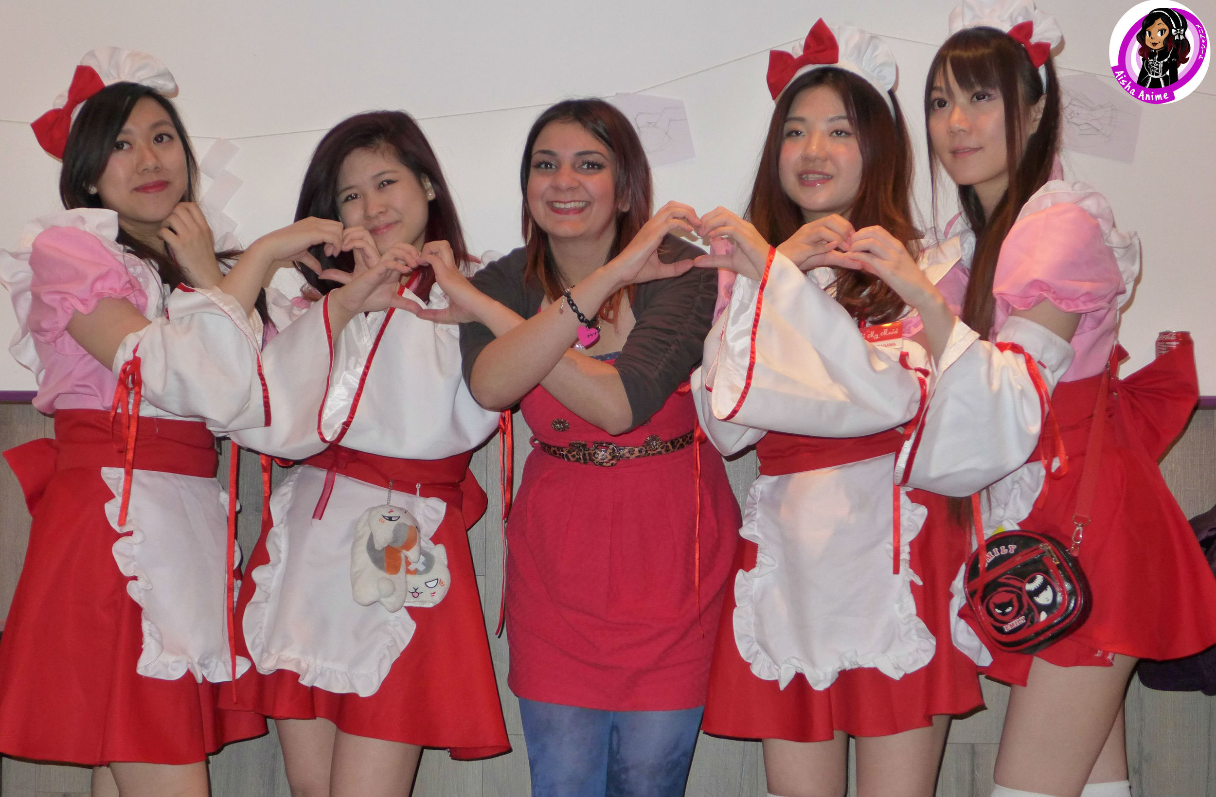 Group photo with the lovely maids