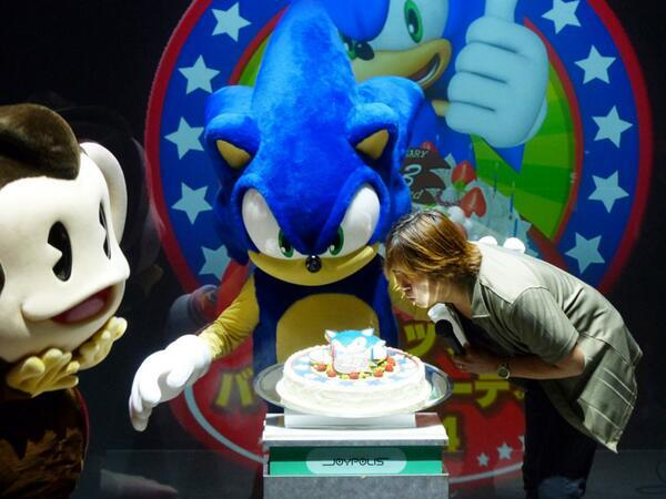 Sonic got birthday cake for brekky