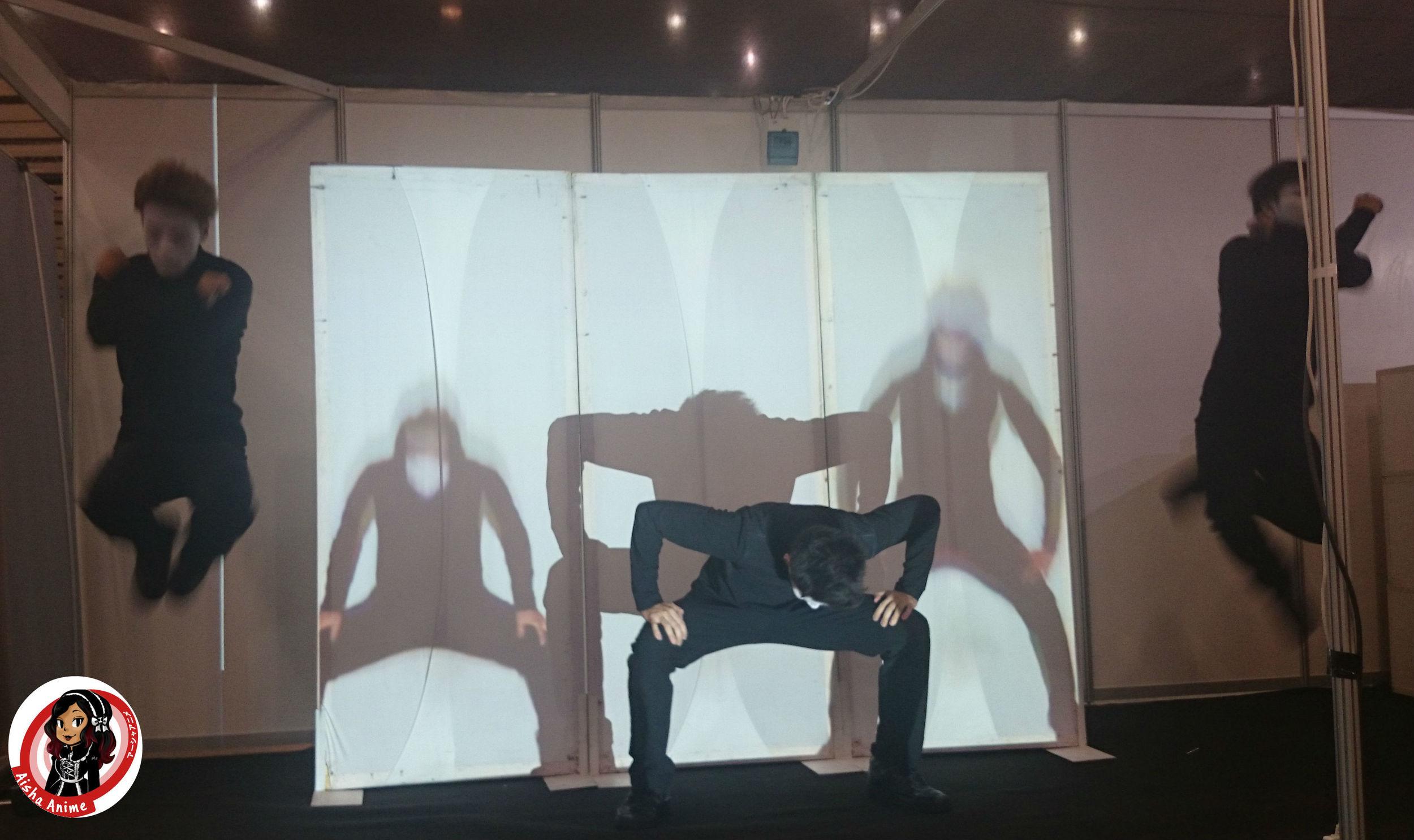 Shiro A demonstrating their music based performances, touring around London in Novemebr