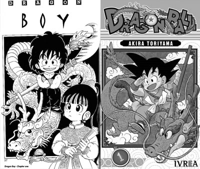 Dragonballs origin goes back even futher to another manga called 'Dragon Boy'