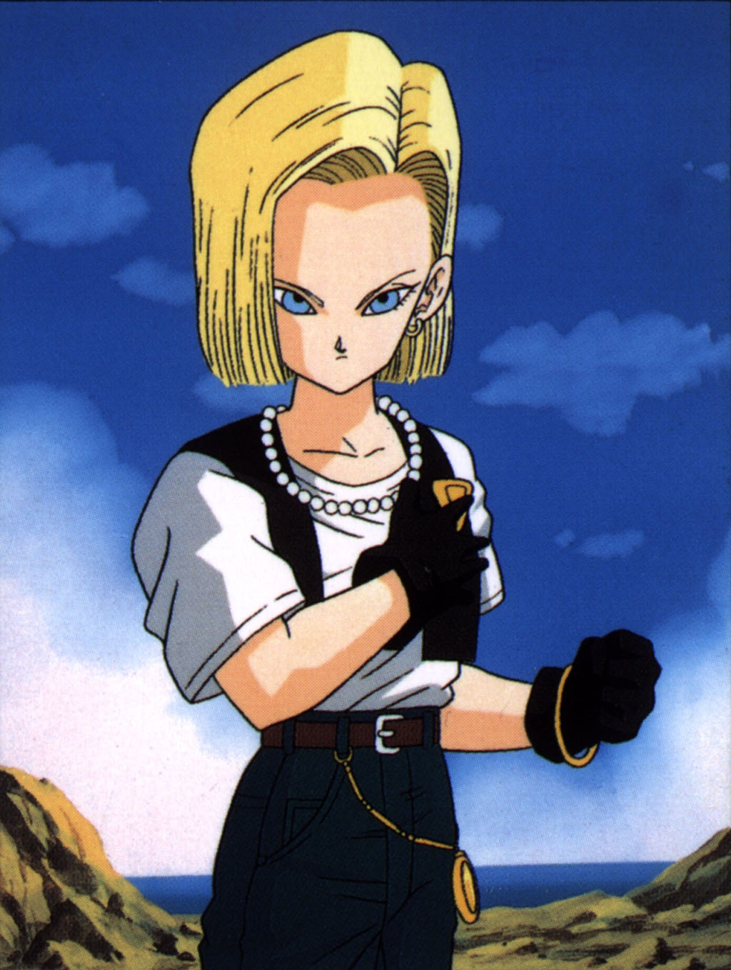 Ahh Android 18...a much needed female regular, who was actually pretty damn good. Kept me watching though a lot of the screaming hairy guys :D