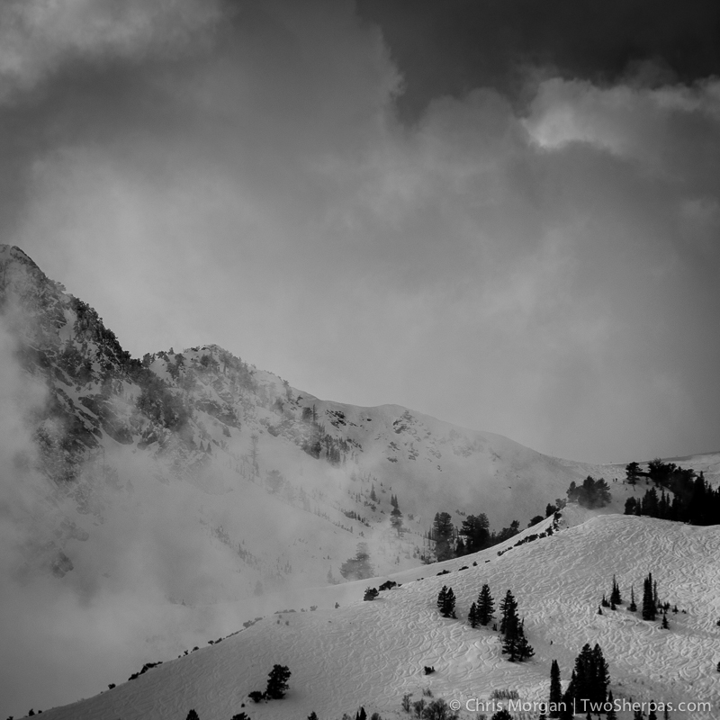 Snowbasin in late winter.