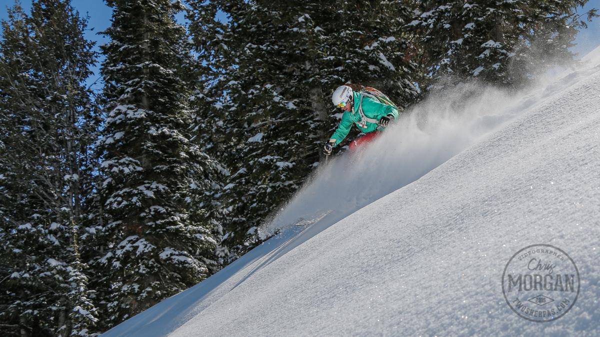 Here's Dave Rosen enjoying some late season goodness at Powder Mountain.