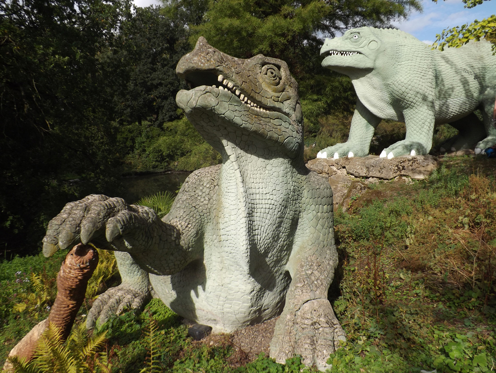 You've seen the Crystal Palace dinosaurs before (or images of them, anyway), but you might not have seen them up-close like this. Neither had I prior to this very special visit. Image: Darren Naish.