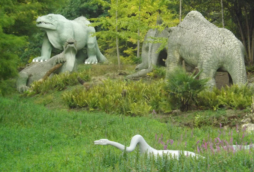 As should be obvious from these photos, the entire area has become somewhat overgrown recently, and much maintenance is needed. The   Friends of Crystal Palace Dinosaurs group   are doing what they can, but help is needed. Image: Darren Naish.