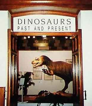 The entrance to what might have been the best palaeoart-themed exhibition of all time, as seen at London's Natural History Museum in late 1990 and early 1991. A better quality version of this photo will be uploaded to TetZoo in the near future (thanks to Spike Ekins for permission). Image: Spike Ekins.