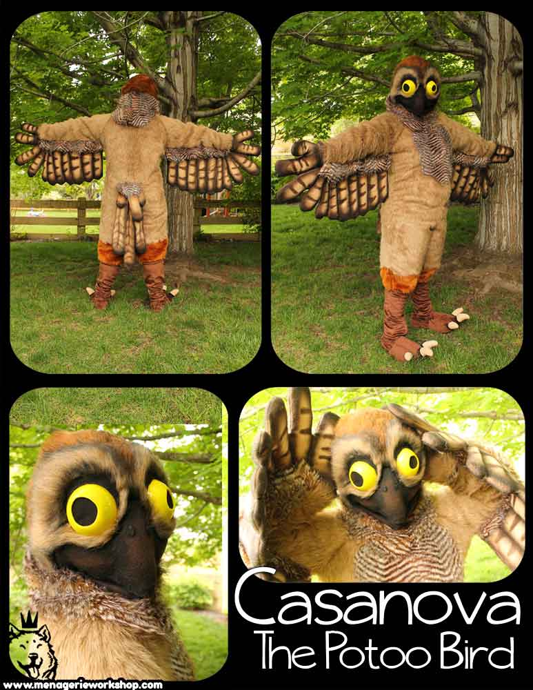 Other potoo-themed costumes are now available - I'm pretty sure that Casanova is not a one-off. Image: (c) SarahDee/Fur Affinity, original   here  .