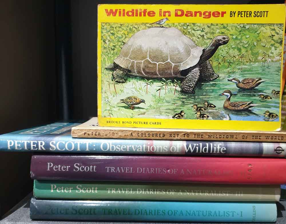 The Peter Scott books I own. Image: Darren Naish.