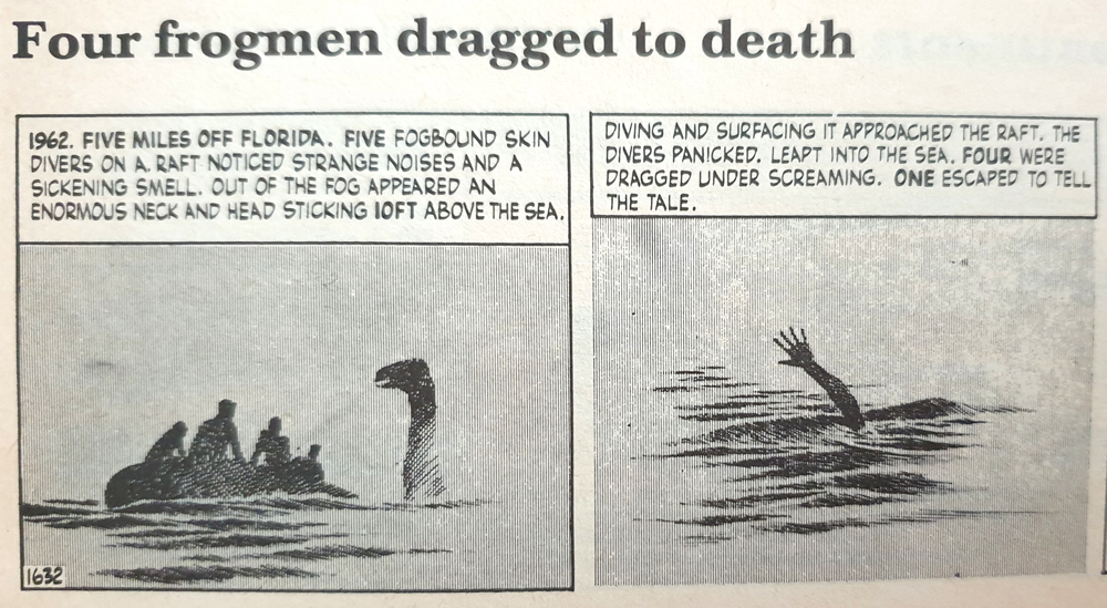 The best sea monster story, here retold by Randall & Keane (1978). Image: Randall & Keane (1978).