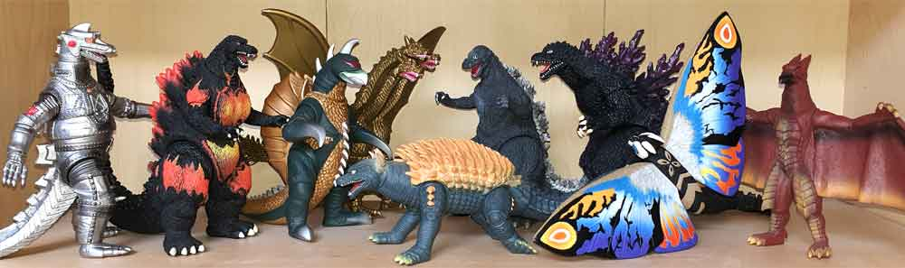 Figures in my collection. As a Godzilla fan, it's great that at least some of these characters have been licensed anew for a modern movie franchise. Image: Darren Naish.