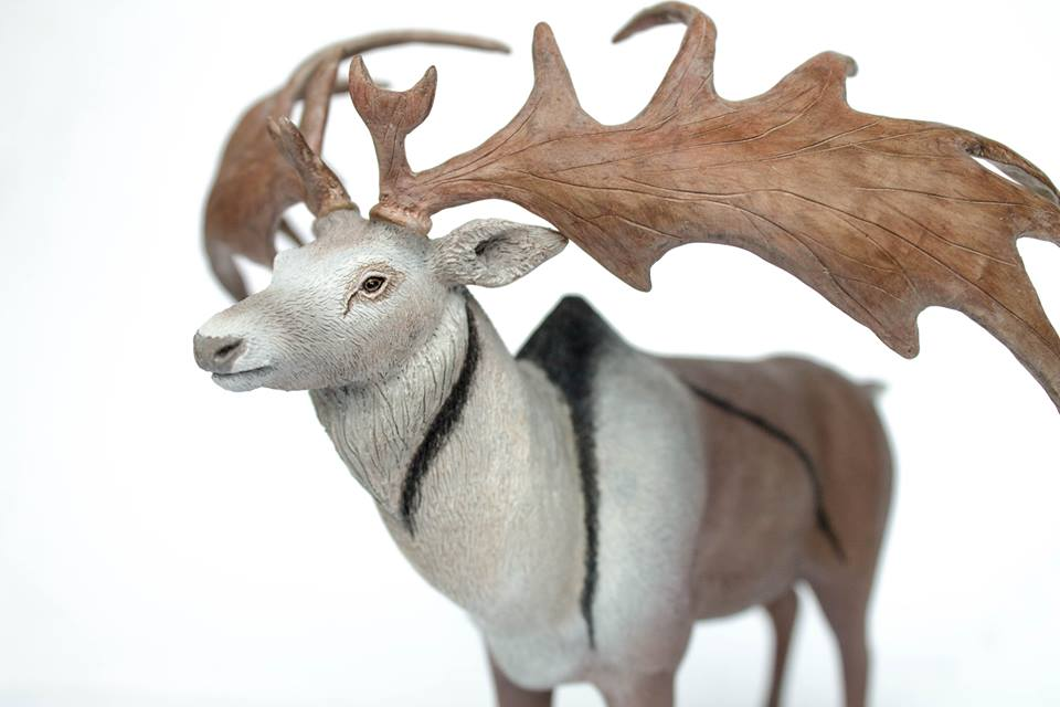 Beautiful  Megaloceros  model made by Agata Stachowiak. You might recognise the colour scheme if you're a regular TetZoo reader. Image: (c) Agata Stachowiak, used with permission.