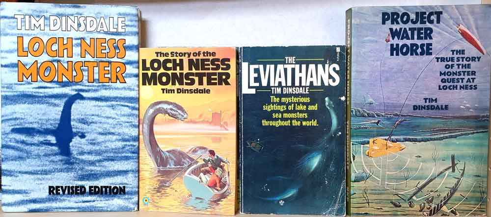 Covers of Dinsdale's Loch Ness books - though not depicting all editions. Image: Darren Naish.