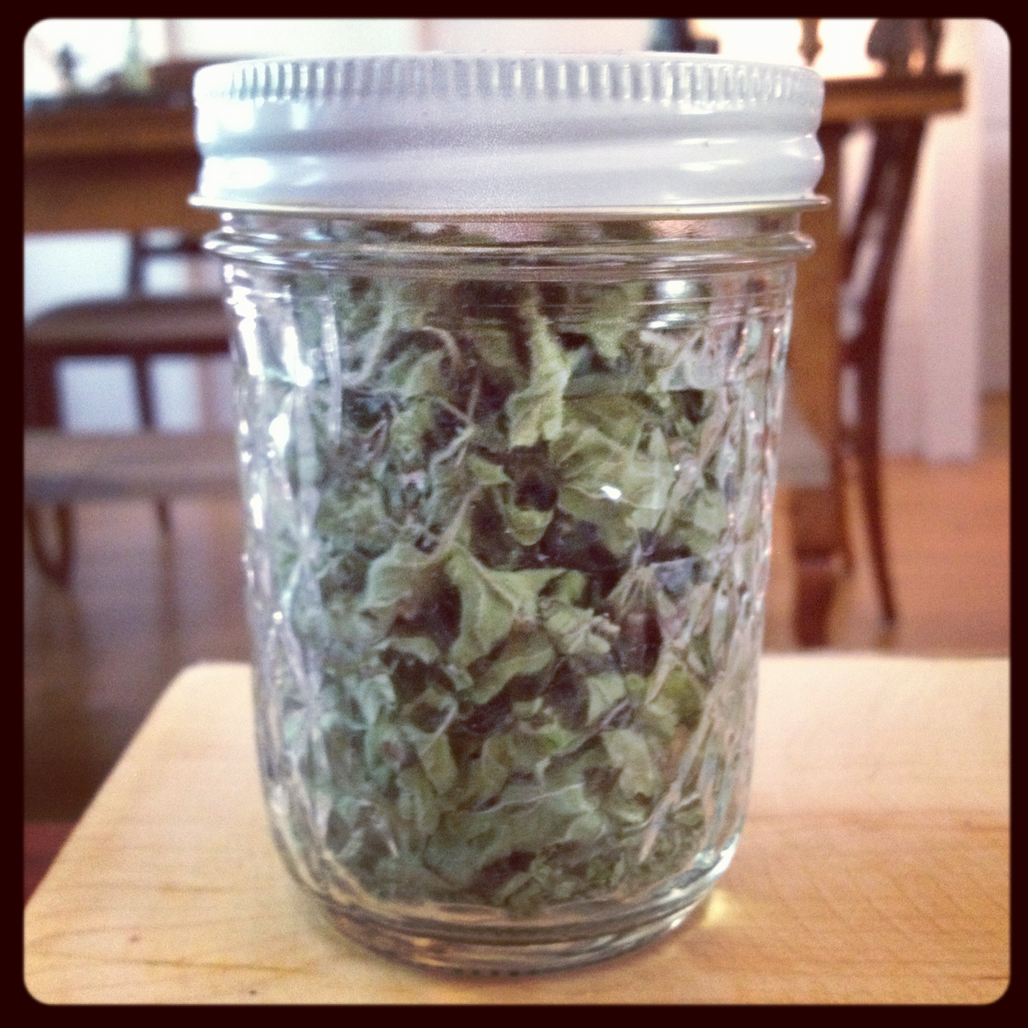 Dried oregano.